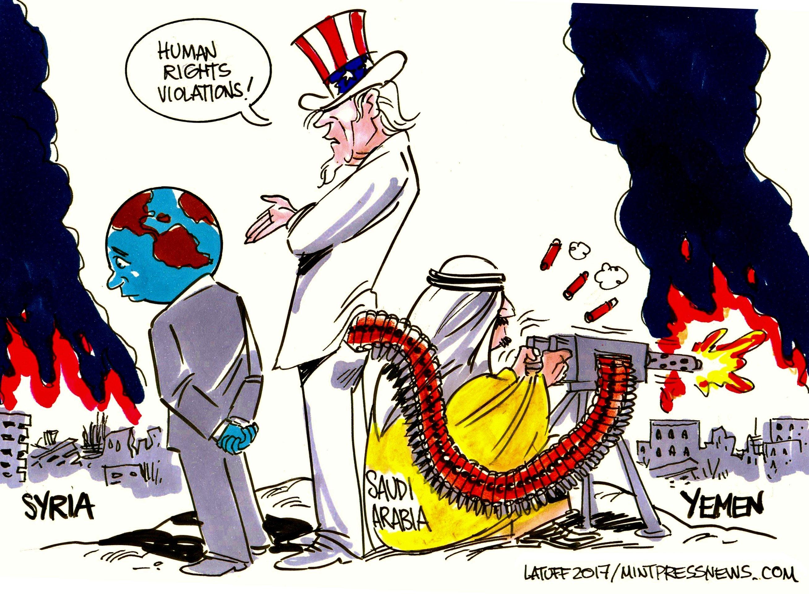Double Standards by Carlos Latuff, A MintPress Comic