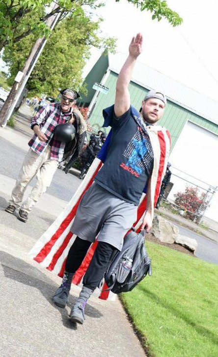 "Christian appeared at a ""March for Free Speech"" rally in Portland on April 29. In a post before the event, he wrote: ""Looking for a couple guys or gals down to unmask anyone wear a mask at the upcoming Free Speech March On Saturday 415 80th Ave Portland. This goes for Antifa and Free Speeches. Let's keep them honest and check their Yard Card Homies...."""