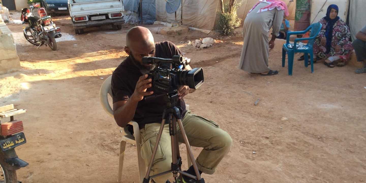"CNN is seeking to distance itself from Bilal Abdul Kareem, pictured here, a known propagandist for al-Qaeda, who was hired to create the network's award-winning documentary, ""Undercover in Syria."" (Photo: Facebook)"