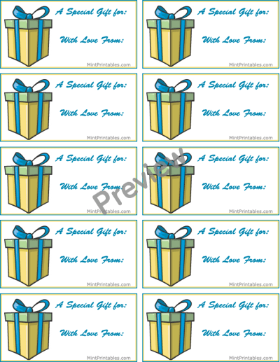Printable Birthday Present Labels
