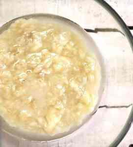 Wet mixture in bowl