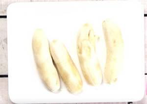 Banana in plate