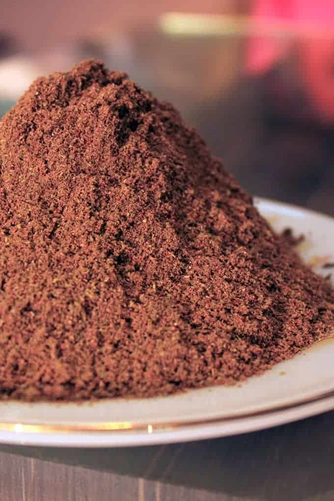 Garam Masala on a white plate