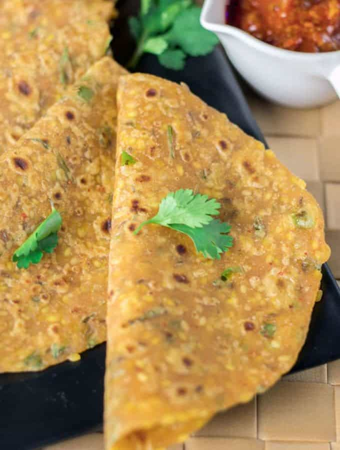 How To Make Sabut Moong Dal Ka Paratha Recipe