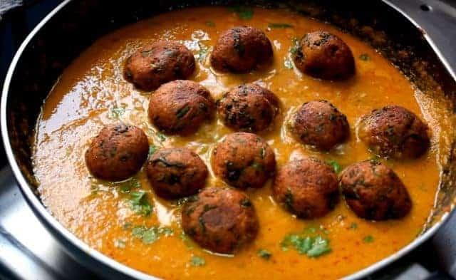 Palak paneer kofta curry