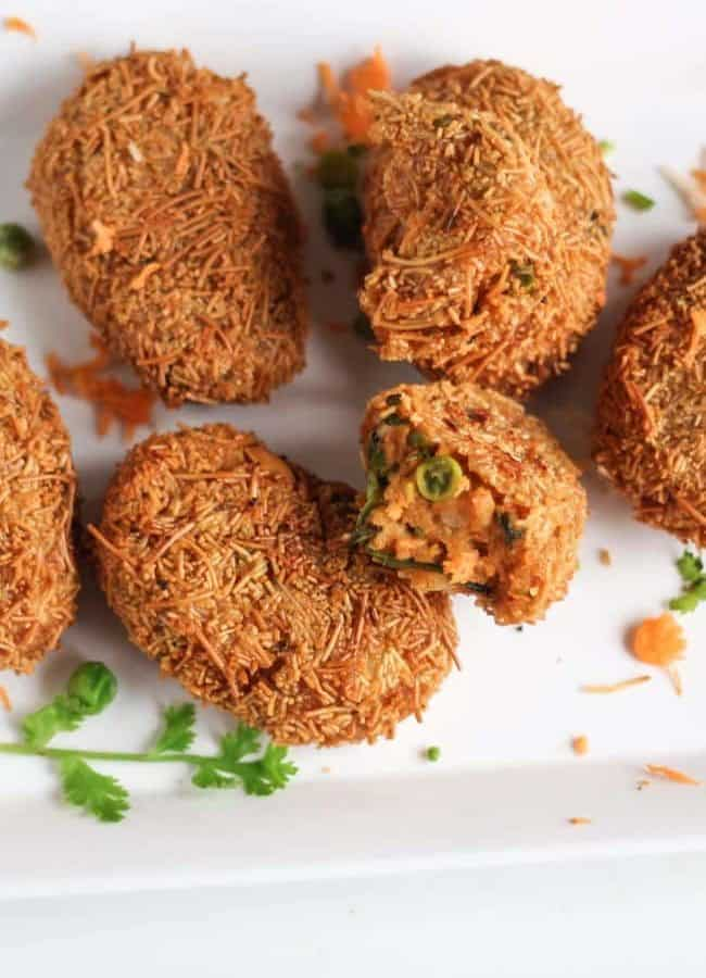 Potato Vermicelli Cutlet Recipe