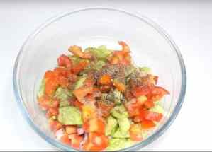 Healthy Mixed Sprouts Vegetable Salad