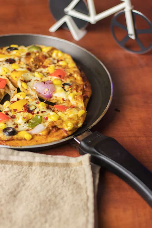 Atta Pizza on a black pan