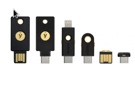 Yubikey, there are several to choose from https://www.yubico.com/
