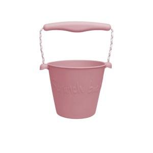 Scrunch lekebøtte rosa