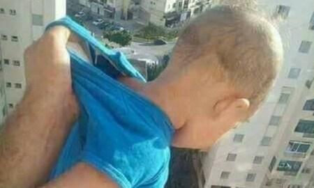 algérie suspend enfant vide