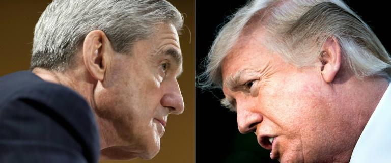 Donald Trump (gauche), photographié le 15 décembre 2017, et Robert Mueller, le procureur spécial qui enquête sur une ingérence russe dans la campagne présidentielle de 2016, photographié le 19 juin 2013