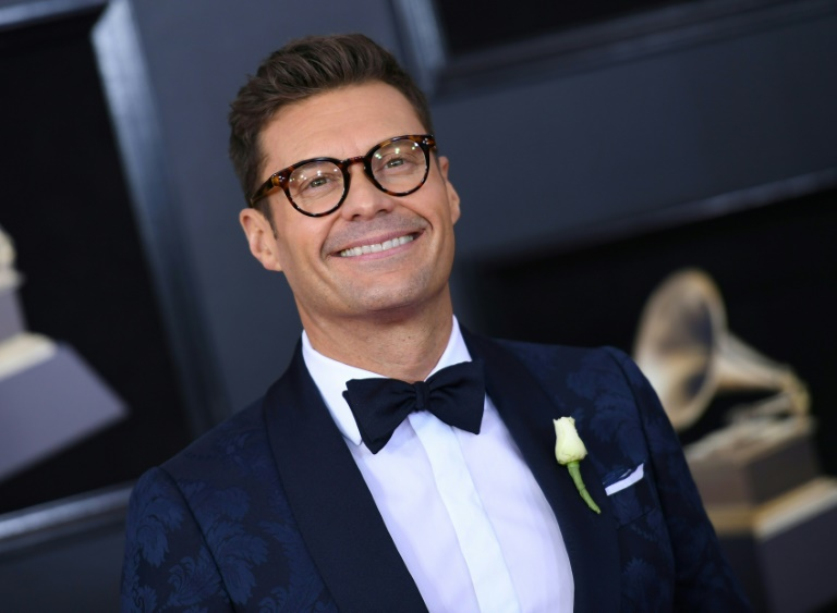 Ryan Seacrest sur le tapis rouge des GRammy Awards à New York le 28 janvier 2018