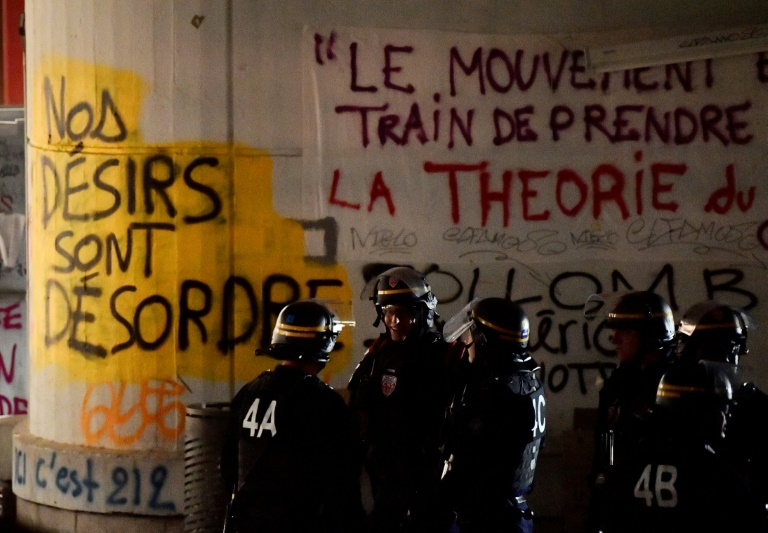 Forces de l'ordre vendredi 20 avril 2018 à l'université de Tolbiac