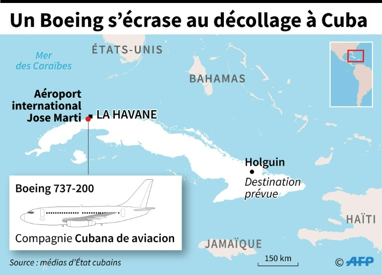 Un Boeing s'écrase au décollage à Cuba