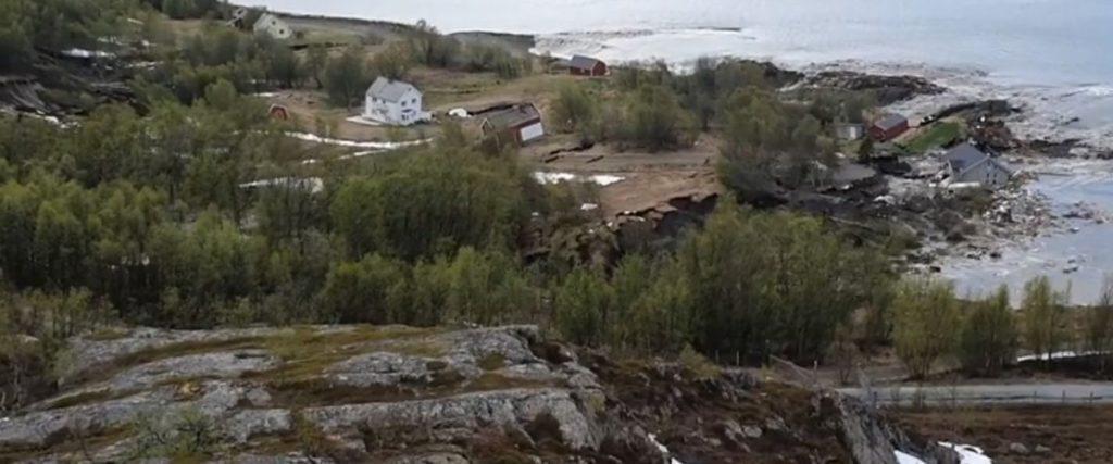 VIDEO. Glissement de terrain Norvège : 8 maisons englouties