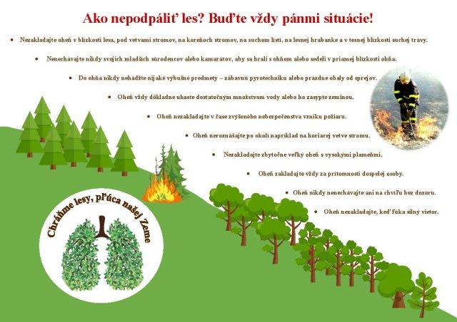Ako nepodpáliť les? Buďte vždy pánmi situácie!