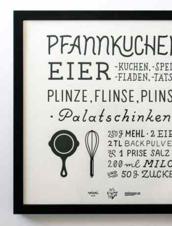 the pancake letterpress print