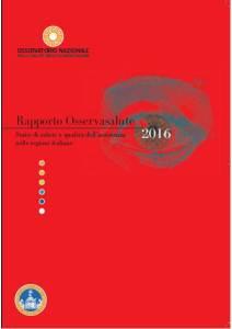 Cover Rapporto Osservasalute 2016