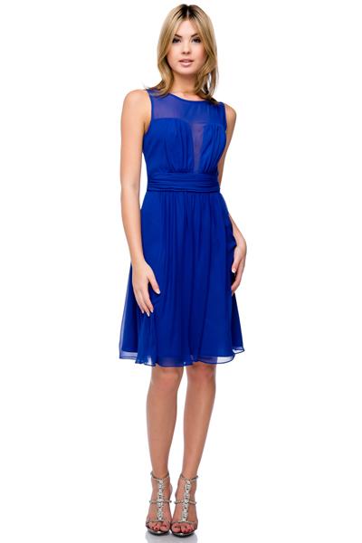 fefcf6c53 Vestido azul rey gasa. Vestidos Cortos de Fiesta 28