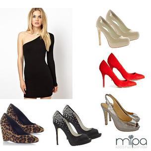 Que color de zapatos para vestido negro