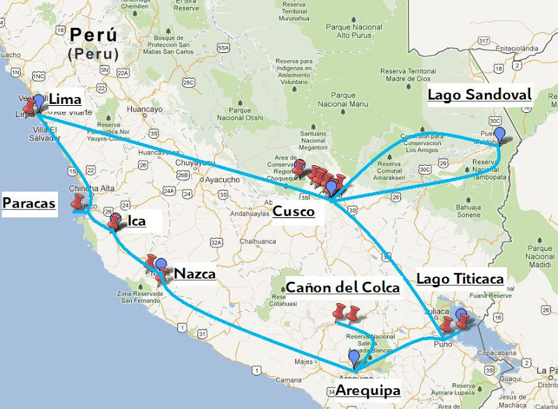Itinerario por Perú en 20 días