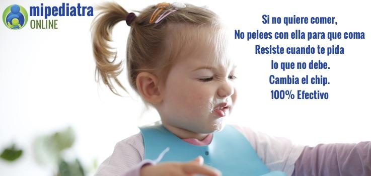 Si no come bien 😤, la solución no es insistir, es resistirse a lo que no debe.
