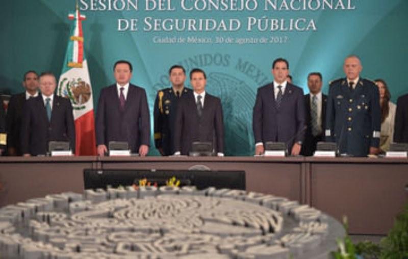 Encabeza Peña Nieto 42 Sesión del Consejo Nacional de Seguridad Pública