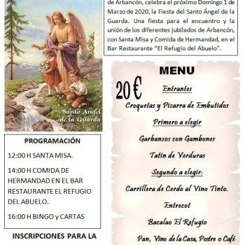 Los jubilados de Arbancón celebran El Santo Ángel de la Guarda