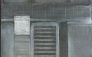 Mur 2 120 cm sur 200 cm fusain et craie blanche 2015 - Artiste Plasticienne Noiseau & Val de Marne 94 famille
