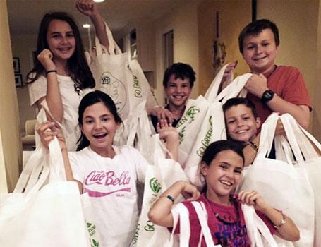 Children volunteer for Mirabella's Miracle