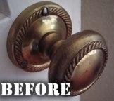 Brass Door Handle Before
