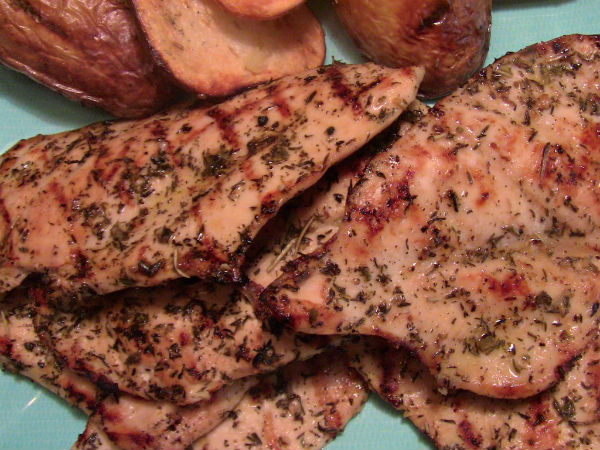 Gluten free Grilled Thin Marinated Chicken Breasts by Gluten Free Miracles