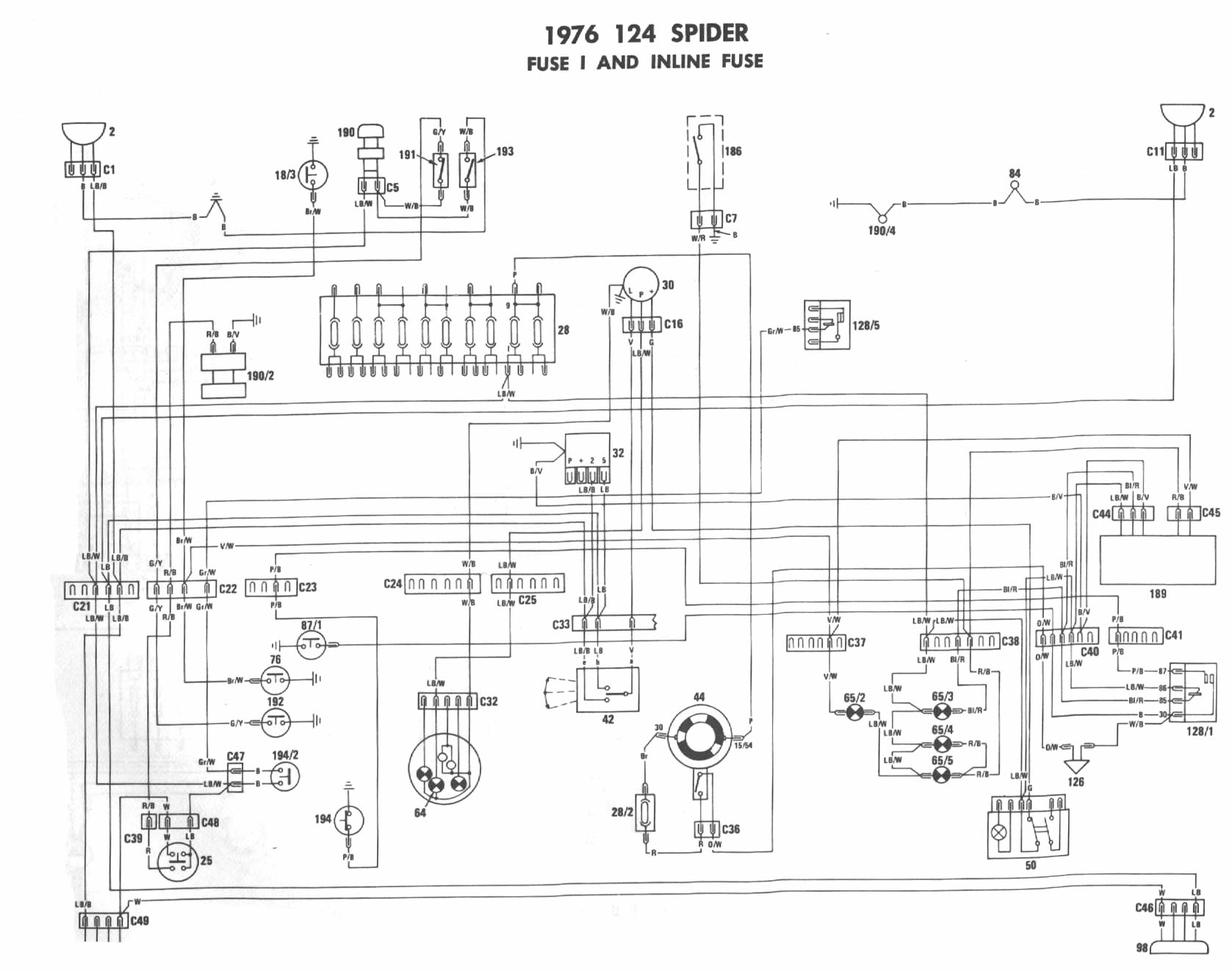 Fiat Lights Wiring Diagram
