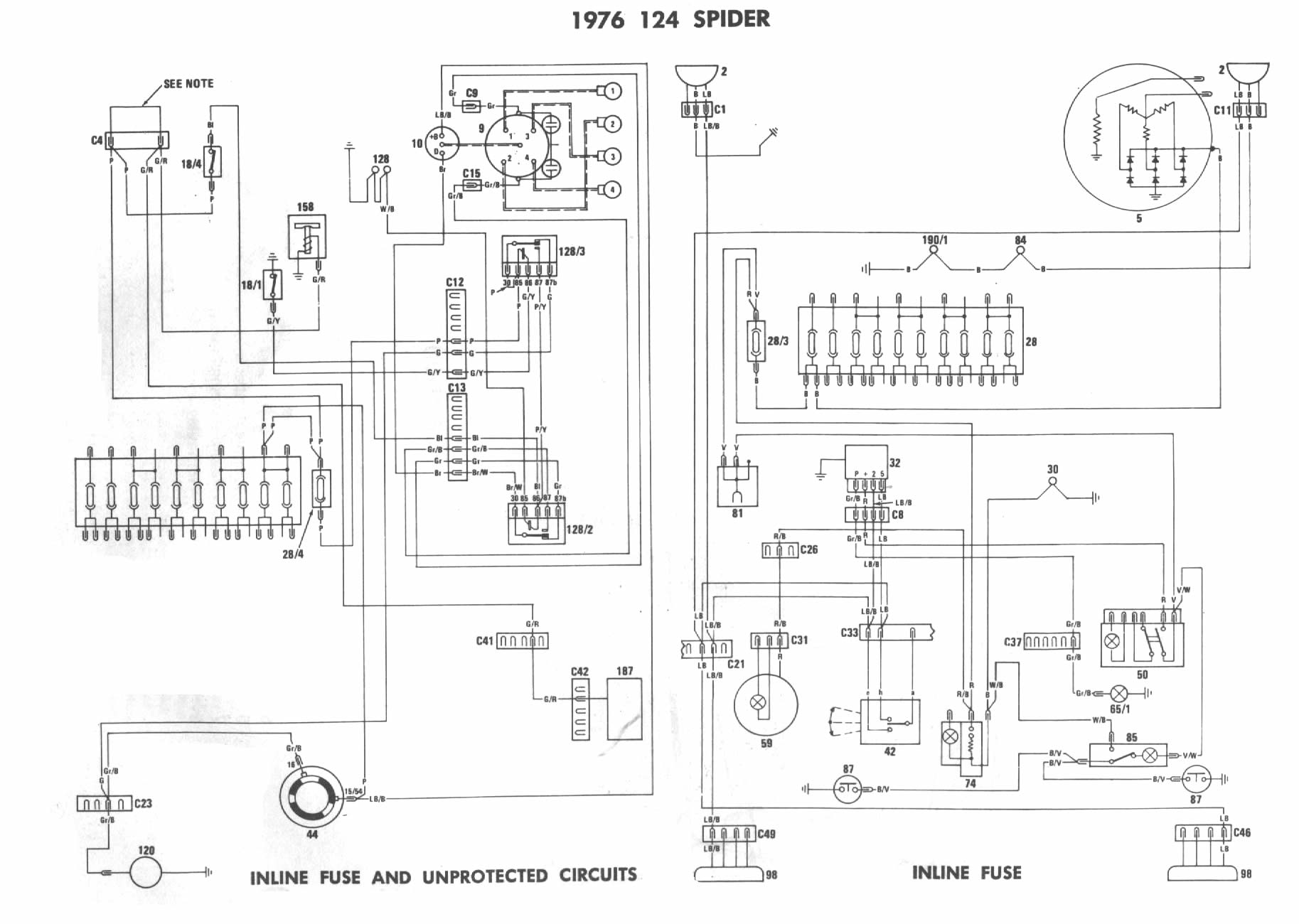 Fiat 124 Wiring Diagram