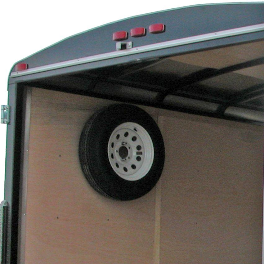 spare tire mount enclosed trailer interior