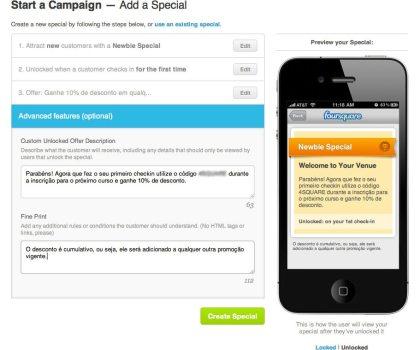 Como anunciar no Foursquare