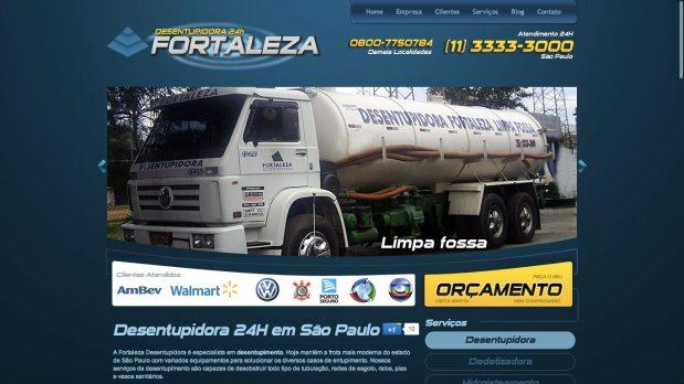 Site otimizado para Desentupidora Fortaleza