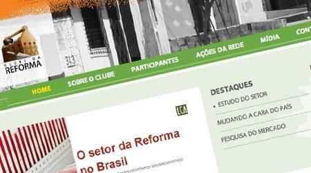 Desenvolvimento de site para o Clube da Reforma