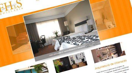 Criação de site para FH&S Hotelaria