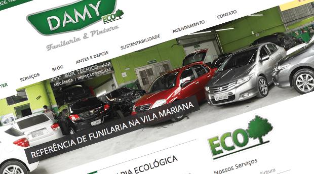 Desenvolvimento de site para Mecânica Damy Autocenter