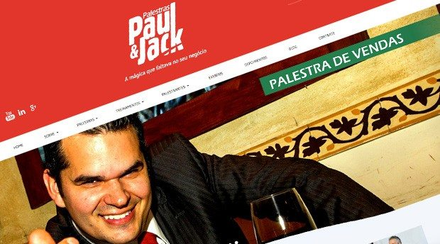Site em WordPress para o Palestras Paul&Jack