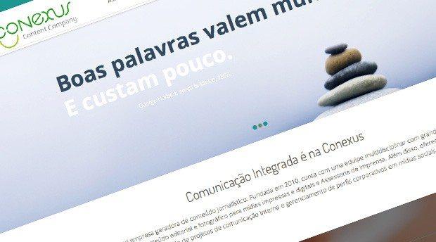 Desenvolvimento de site em WordPress para Conexus Content Company