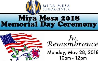 Memorial Day Program at the Mira Mesa Senior Center