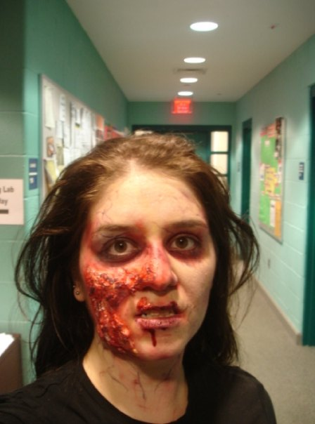 sfx makeup, special effects make up, horror, gore, trauma, wounds, prosthetic, latex, zombie, dead, rotting, blood