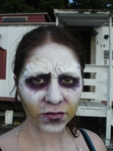 sfx makeup, special effects make up, horror, evil make up, demon, possession, no eyebrows
