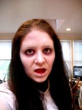 haunted house make up, scary make up.