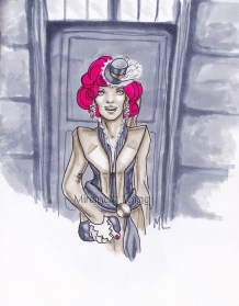 Effie Trinket Fan Art from the Hunger Games