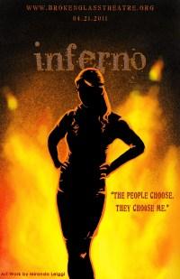 poster, inferno, dante's inferno, digital art, fire, silhouette, woman