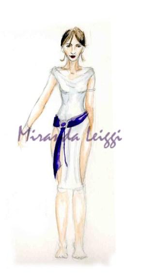 costume rendering, metamorphosis, mary zimmerman, watercolor